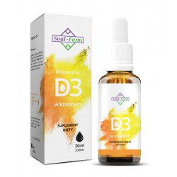 Witamina D3 w kroplach 30 ml / Soul-Farm