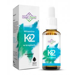 Witamina K2 w kroplach 30 ml / 100mcg / Soul-Farm