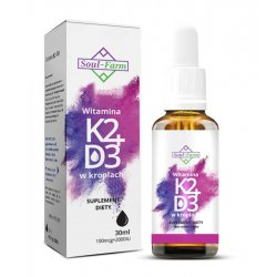 Witaminy K2+D3 w kroplach 30 ml / 100mcg / Soul-Farm